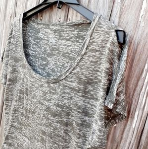 GAP, burnout top, split sleeves, subtle sparkle Lg